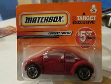 Matchbox Concept 1 Beetle Red Short Card Target Exclusive