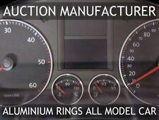 VW Golf 5 V mk5 2003-2009  Brushed Matt Aluminium Chrome Gauge Trim Rings 2pcs