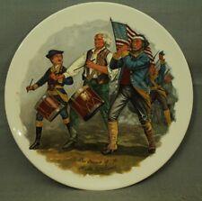 "Spirit of 76 A M Willard drummer flute flag 8 5/8"" decorative plate"