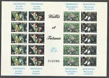 FLOWERS ORCHIDS ON WALLIS AND FUTUNA 1982 Sc 283-286, SHEET IMPERFORATED