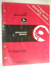 John Deere 722 Mulch Finisher N200038 J4 Operator'S Manual