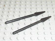 2 x Lance LEGO minifig Black spear 4497 / Set 6763 6766 6748 7623 6277 6211 7115