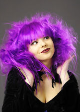 Womens Halloween Purple Backcombed Zombie Wig