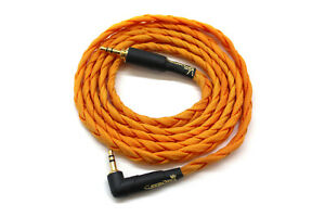 Headphone Cable 3.5mm Jack to Threaded 3.5mm Jack (1.4m, Orange) CLEARANCE