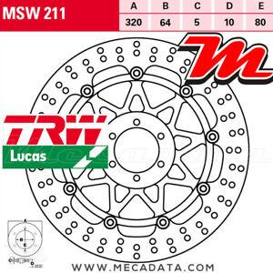 Disque de frein Avant TRW Lucas MSW 211 Ducati 750 Monster i.e. (M) 1999