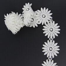 RABATT 2 Yards Lace Spitzen Borten Ekrü Weiß Hochzeit Verzierung Polyester Nähen