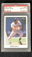 1990 LEAF Sammy Sosa #220 Chicago White Sox RC Rookie GEM MINT PSA 10
