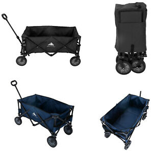 Collapsible Folding Wagon Cart Outdoor Camping Utility Garden Trolley Buggy 85KG