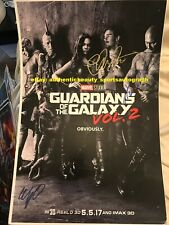 GUARDIANS OF THE GALAXY VOL 2 CHRIS PRATT GUNN BAUTISTA SIGNED 12x18 REPRINT RP