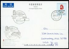 China PRC used postcard cover PPC 2008 Beijing Olympic special postcard