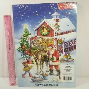 Chocolate Advent Countdown Calendar Santa's WrkShp - Pop a Door a Day - exp 8-21