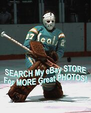 #27 Gilles MELOCHE California SEALS BLOCKER Save CUSTOM Lab 8X10 AWESOME Shot !!