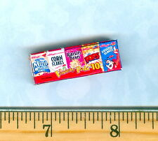 Dollhouse Miniatures Size MODERN Variety 10 pack of Individual Cereals Box