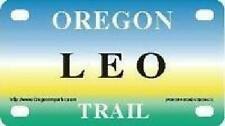 LEO Oregon Trail - Mini License Plate - Name Tag - Bicycle Plate!