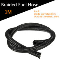 AN6 Nylon Braided Fuel Oil Line Inner 8mm Tube Pipe Gas Coolant Hose End Kit