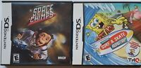 Space Chimps & SpongeBob's Surf & Skate Roadtrip Video Game DS Complete