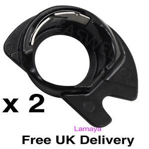 2 x Bobbin Case 421325 Black Plastic Compatible Spare Part Singer Apollo sewing