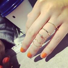 Hot Above Midi Mid Ring Rings Knuckle Finger Gold