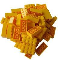 Lego 50 gelbe Steine Basicsteine 2x4 (3001) Stein gelb yellow bricks Neu