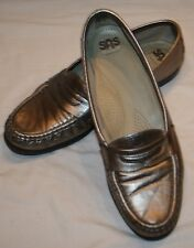 SAS Tripad Comfort 9 1/2N 9 1/2 N Pewter Gold Loafers Shoes Womens 9.5  Flats