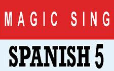 ENTERTECH MAGIC SING KARAOKE MIC Spanish 5 Latin Song Chip
