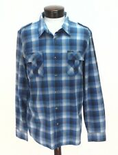 Guess Men's Casual Plaid Shirt Button Front Blue Sz Large L New W / O Tags