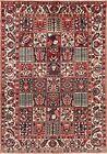 Vintage Garden Design Bakhtiari Oriental Area Rug Wool Hand-Knotted Carpet 7x10