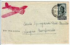 RRRR 1934 LETTERA POSTA AEREA LIBIA TRIPOLI  RARA AFFRANCATURA £ 25 ISOLATO