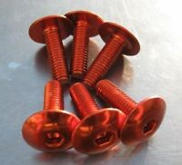 M 6 x 15 mm button head socket cap bolt, orange anodised
