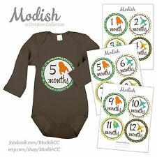 FREE GIFT, Monthly Baby Stickers, Baby Month, Baby Boy, Airplanes, Rockets