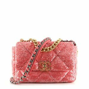 Chanel 19 Flap Bag Quilted Sequins Medium