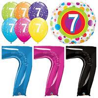 Age 7 - Happy 7th Birthday Qualatex Balloons {Helium Party Balloons Boy/Girl}