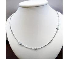 Diamond Necklace 4.77 Carats Platinum 18.0 Inches Chain