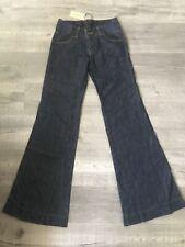 J Brand Mama J Womens Flare Jeans Blue Pockets Dark Wash Denim Pants 25