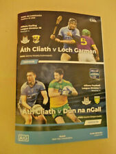 Dublin v Donegal & Wexford GAA double header Croke Park match programme 2020