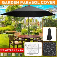 2.7m 6 Arm Umbrella Fabric Garden Parasol Canopy Cover Roof Replacement Anti UV