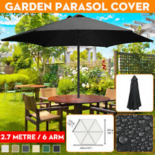 2.7m 6 Arm Umbrella Fabric Garden Parasol Canopy Cover Roof Replacement Anti UV