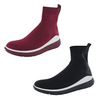 Fitflop Womens Rapid Knit High Top Bootie Shoes