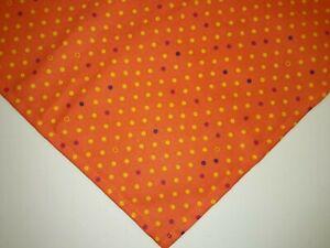 Dog Bandana/Scarf Tie On Halloween Orange, Gold, Purple, XS,S,M,L