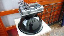 Lampe Industrielle MAZDA Suspension Métal Tôle émaillée 1970 Atelier Usine
