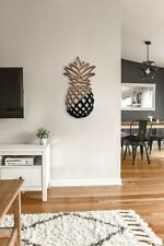 Pineapple Metal Wall Decor - Pineapple Metal Wall Hanging- Metal Wooden Wall Art