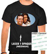 100 A4 Laser1Opaque Iron On Quality Heat Transfer paper for Dark fabric