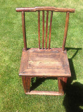 Antique Chinese Qing Yoke Back Officer Hat Chair 18th 19th Century