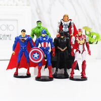 6 Types Action Figure  Various Pose Super Heroes Avengers Kids Toy