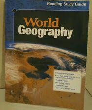 McDougal Littell World Geography Reading Study Guide 10th grade 10 homeschool