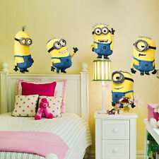 Removable Cartoon Wall Stickers for Kids Rooms 3D House Decoration