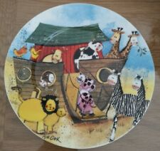 More details for queens alex clark two by two china plate, new without original box,17.5cm approx