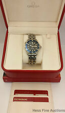 Genuine Omega Seamaster Mens Working Wrist Watch Box Papers