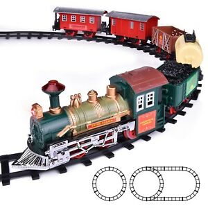 Classic Continental Express Train Set & Tracks with Lights & Sound 16 Pcs
