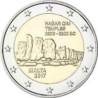 Malta 2 Euro 2017 Hagar Qim Tempel in Münzkapsel mit Münzzeichen F